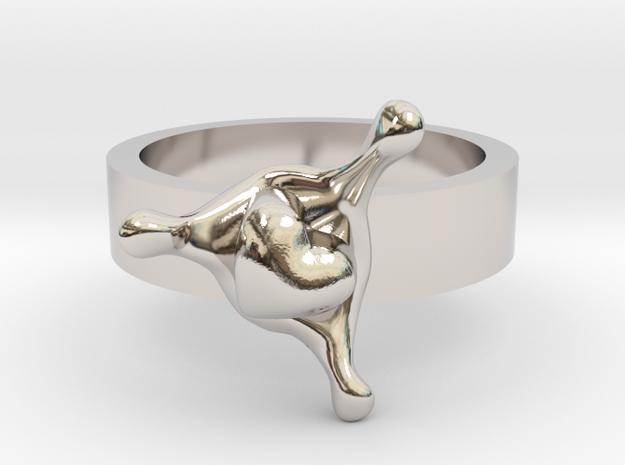 LoveSplash ring size 8 U.S. 3d printed
