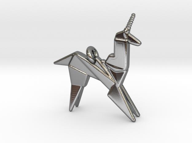 Origami Unicorn Pendant
