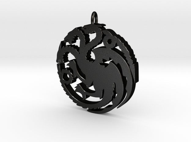 Targaryen Pendant in Matte Black Steel