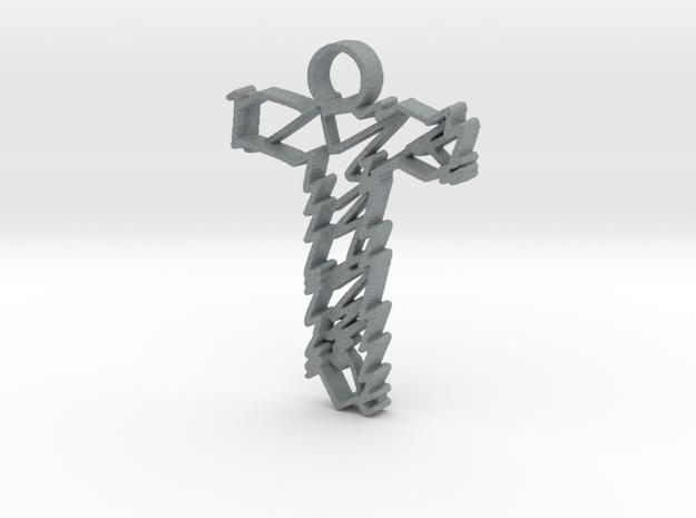 "Sketch ""T"" Pendant in Polished Metallic Plastic"