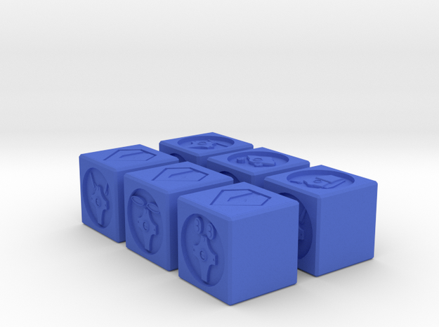 Zentreadi Spawning Dice: 16mm in Blue Strong & Flexible Polished