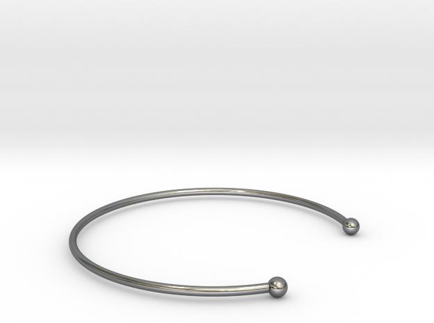 BRACELET   ø 62 mm x large 19.4 cm in Fine Detail Polished Silver