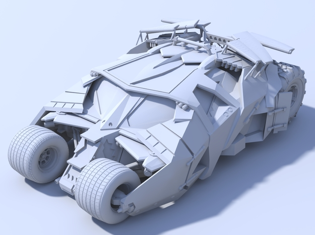 Batman - Tumbler Car [80mm & Solid] in White Natural Versatile Plastic