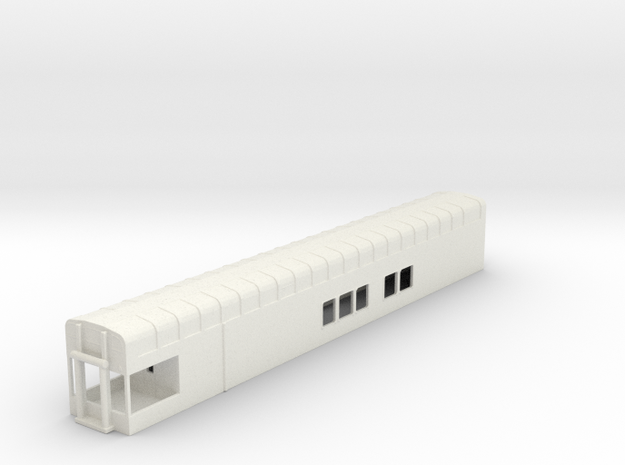 N Scale Rocky Mountaineer A Series 8'3 Platform in White Natural Versatile Plastic