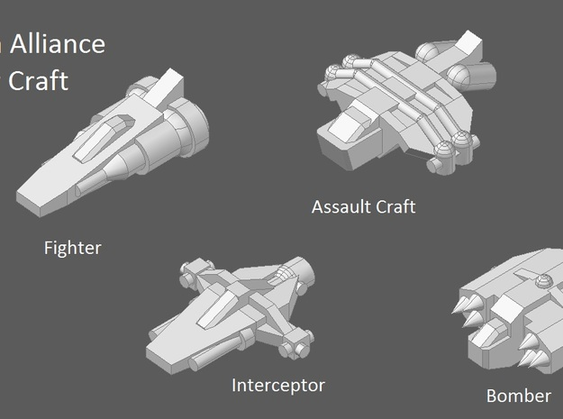10 Human Alliance Fighters 3d printed faction preview