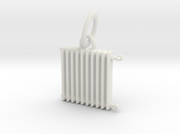 HH - Radiator Necklace Pendant -v2 in White Natural Versatile Plastic