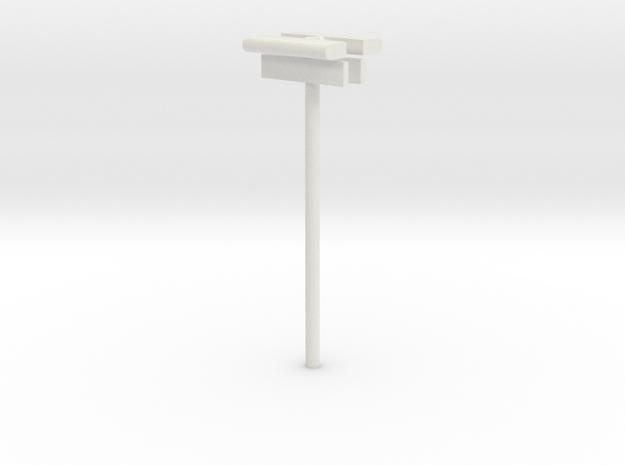 DSB Stations lampe (dobbelt) med stations skilt  in White Natural Versatile Plastic