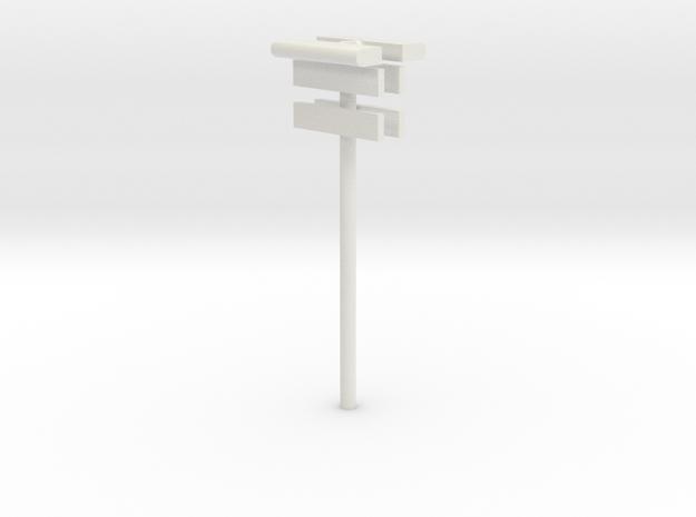 DSB Stations lampe (dobbelt) med stationsskilt og  in White Natural Versatile Plastic