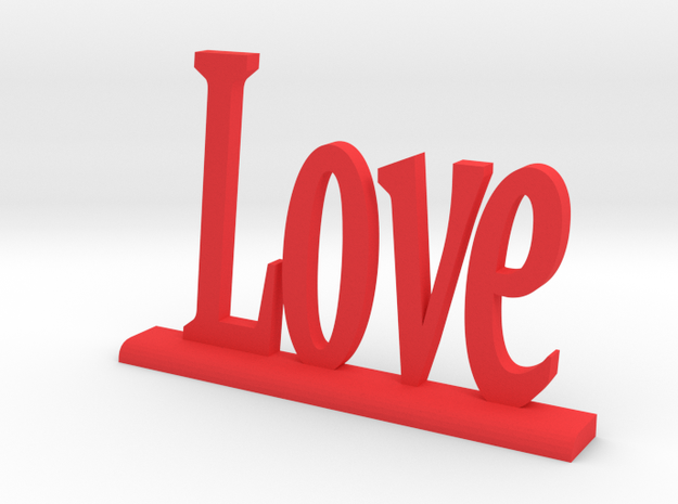 """Letters 'Love' 7.5cm / 3"""" in Red Strong & Flexible Polished"""