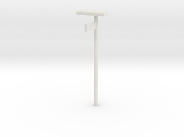 DSB Stations lampe med kontrolafgiftsskilt 1/87 in White Natural Versatile Plastic