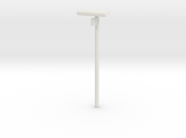 DSB Stations lampe med spornummer VIA 1/87 in White Natural Versatile Plastic