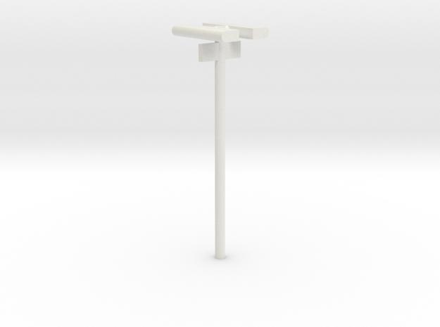 DSB Stations lampe med spornummer (dobbelt) VIA 1/ in White Natural Versatile Plastic