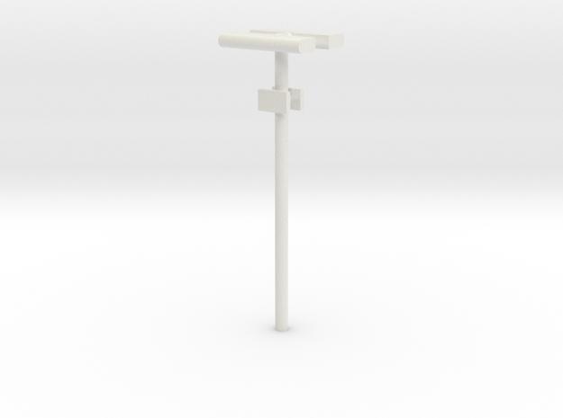 DSB Stations lampe (dobbelt) med lille undertavle  in White Natural Versatile Plastic