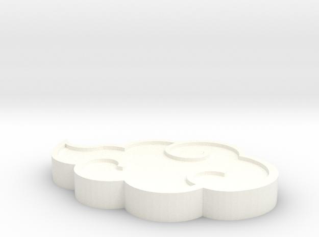Akatsuki cloud pendant in White Strong & Flexible Polished
