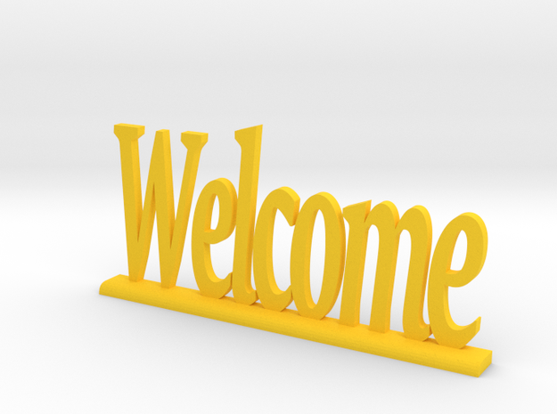 "Letters 'Welcome' 7.5cm / 3"" in Yellow Processed Versatile Plastic"