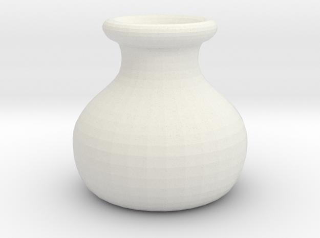 Simple Pot in White Natural Versatile Plastic