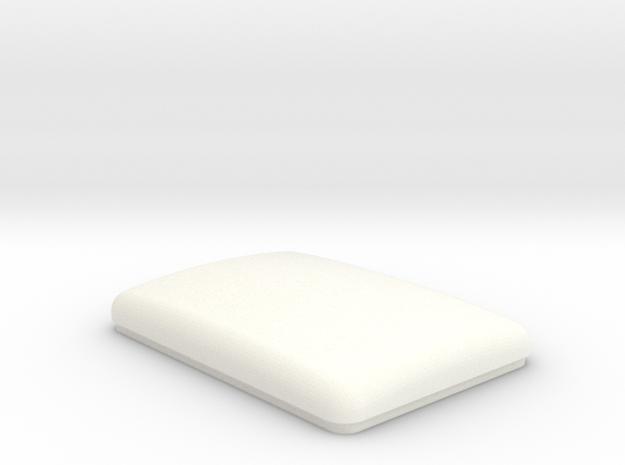 Flattop Bunk Cap (TS-BD-0001) in White Processed Versatile Plastic