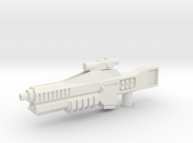 Cybetronian Phaser in White Natural Versatile Plastic