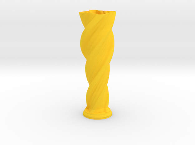 "Vase 'Anuya' - 20cm / 7.9"" in Yellow Processed Versatile Plastic"