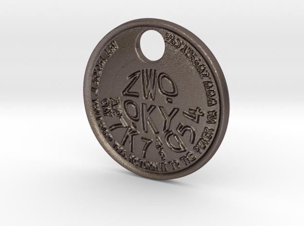 ZWOOKY Style 223 - pendant ZWOOKY in Polished Bronzed Silver Steel
