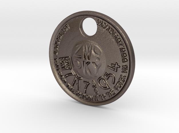 ZWOOKY Style 226 - pendant ZWOOKY in Polished Bronzed Silver Steel