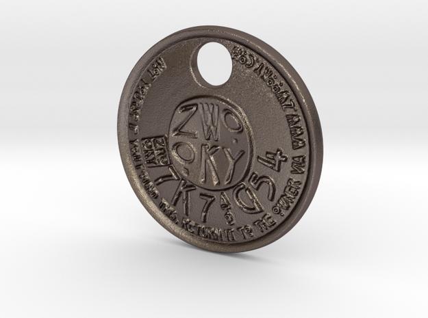 ZWOOKY Style 231 - pendant ZWOOKY in Polished Bronzed Silver Steel