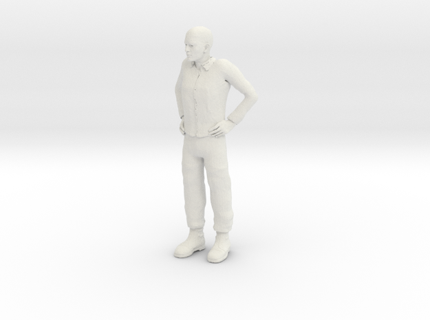 Guy standing 1/29 scale in White Natural Versatile Plastic