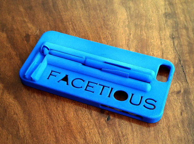 "IPhone 6 Case with ""selfie steady stick"" in Blue Processed Versatile Plastic"