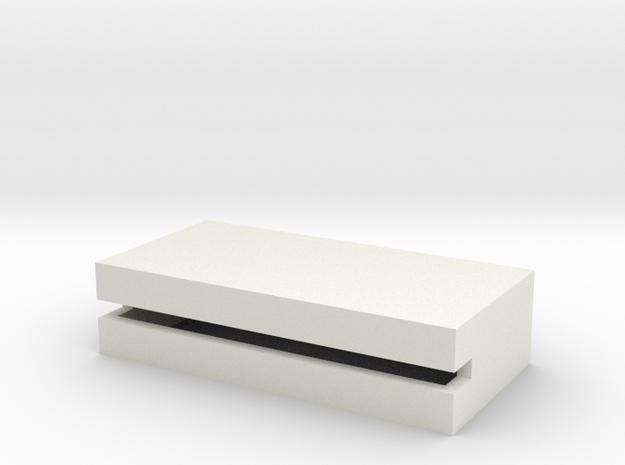1/350 Concrete Bunker 1 in White Natural Versatile Plastic