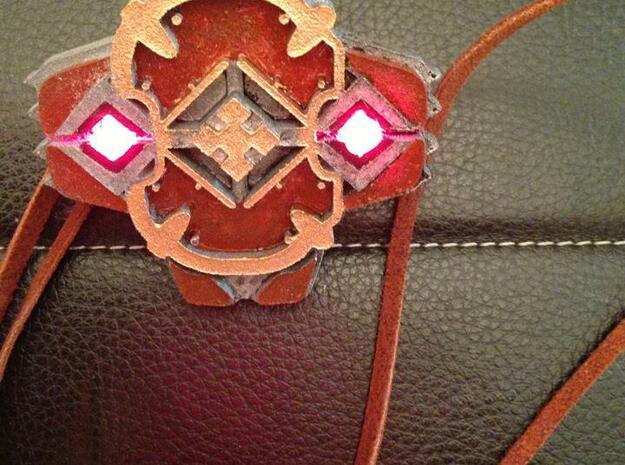 Shield Pendant 3d printed