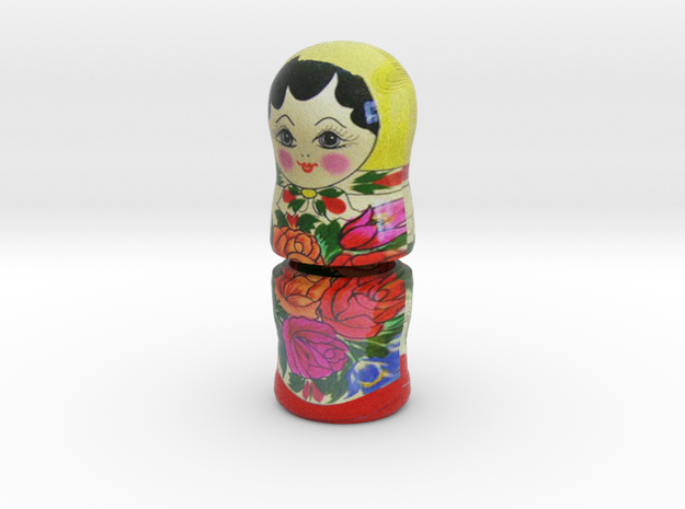 Russian Matryoshka - Piece 4 / 7 in Full Color Sandstone