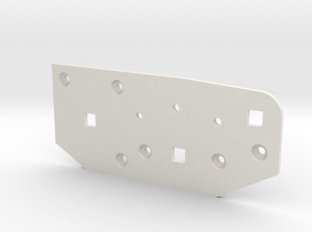 Abdeckung iRobot Roomba 500er Bürstengetriebe in White Natural Versatile Plastic