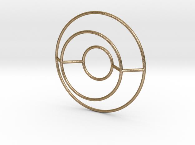 O Typolygon. in Polished Gold Steel