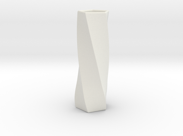 Simple Flower Vase in White Natural Versatile Plastic