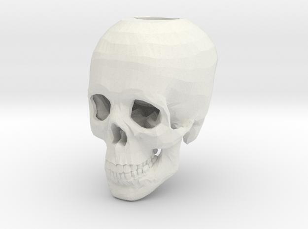 Skull Candle Holder in White Natural Versatile Plastic