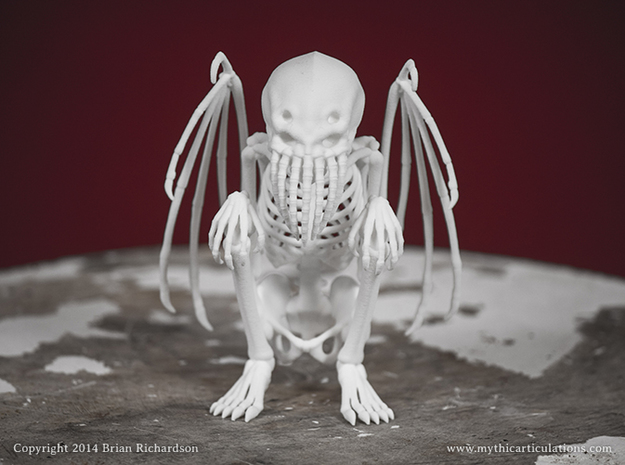 Cthulhu Skeleton in White Strong & Flexible