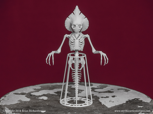 Flatwoods Monster Skeleton in White Natural Versatile Plastic