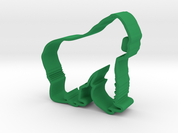 Western Lowland Gorilla in Green Processed Versatile Plastic