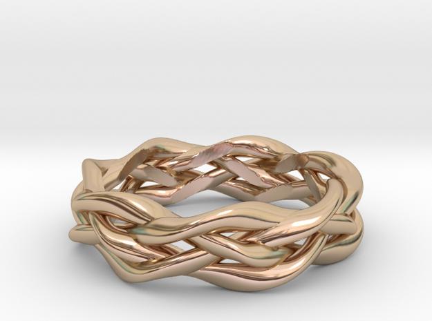 'Swoop' Braid Ring, size 8.25 3d printed