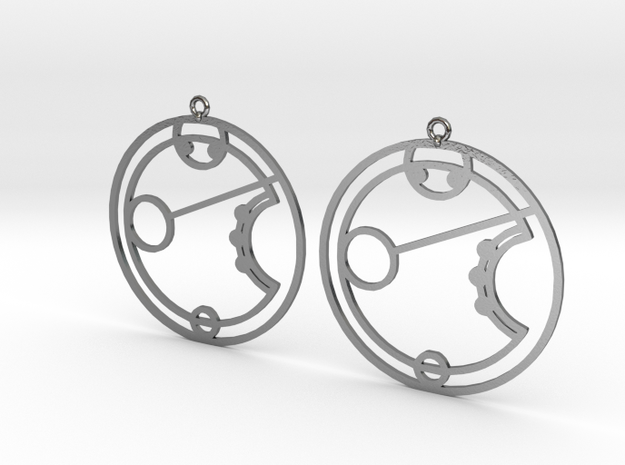 Erryn - Earrings - Series 1 in Polished Silver
