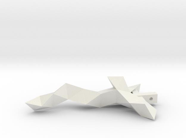 The vonDuncker Crucifix (4inch) in White Natural Versatile Plastic