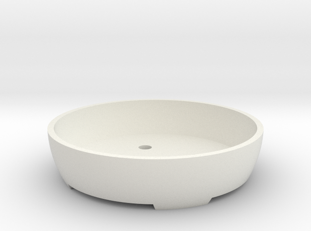 Bonsai Pot (Round) in White Strong & Flexible