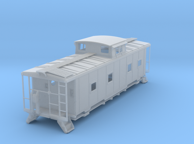 ACL M5 Caboose, split window - HO in Smooth Fine Detail Plastic