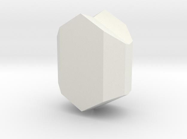 Clinopyroxene twin in White Natural Versatile Plastic
