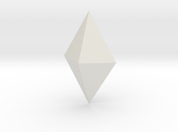 Orthorhombic dipyramid 3d printed