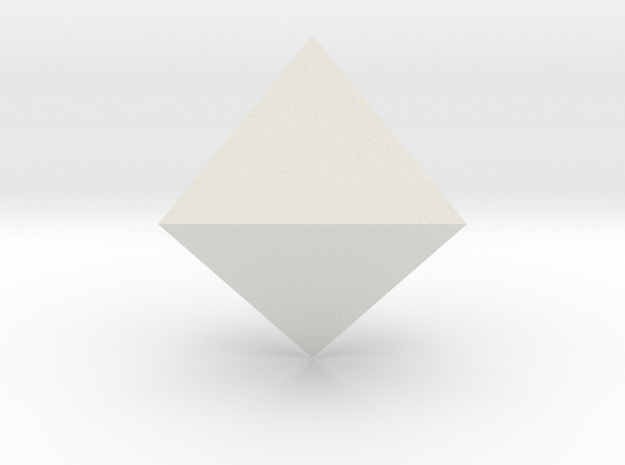 Trigonal bipyramid in White Natural Versatile Plastic