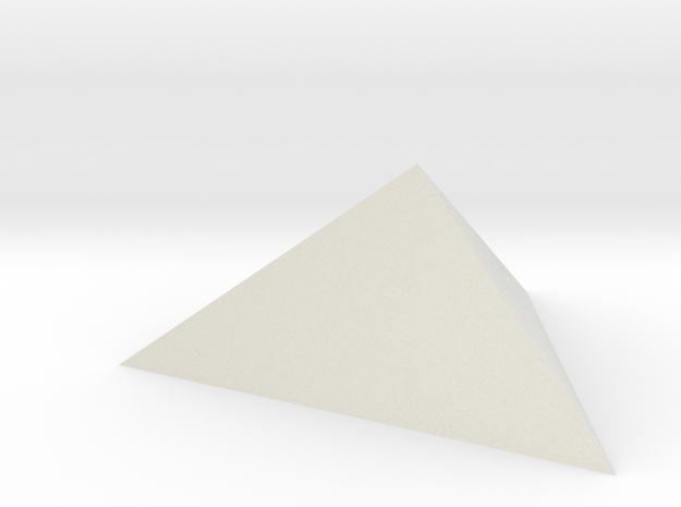 Trigonal pyramid in White Natural Versatile Plastic