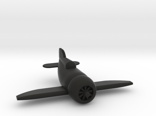 Gee Bee Racer in Black Natural Versatile Plastic