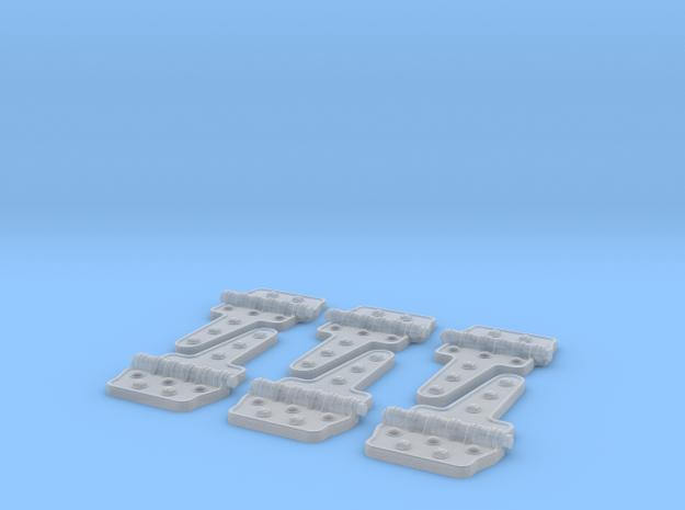 Reefer Hinges 1-20-3 Version-030415 in Smooth Fine Detail Plastic