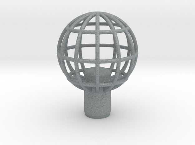 "Shift Knob Globe 12x1.25 2"" in Polished Metallic Plastic"